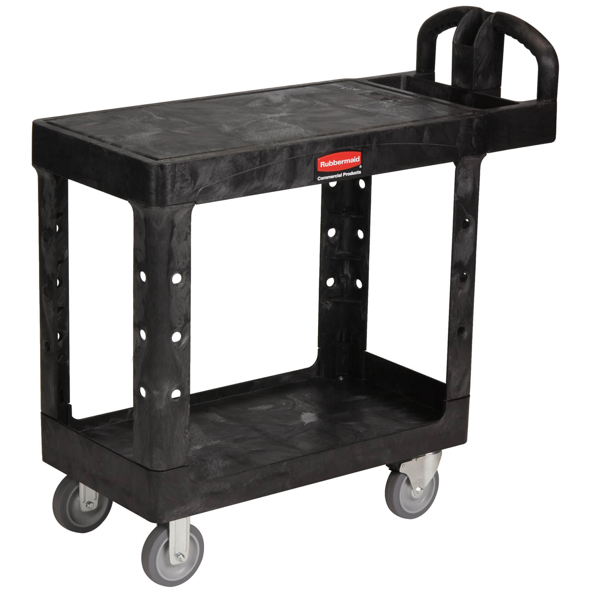 chariot-a-deux-tablette-rubbermaid