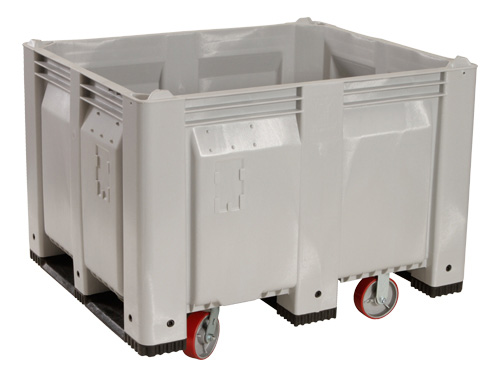 Stackable-pallet-bins-on-casters