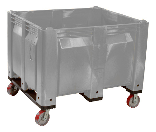 Non-Stackable Pallet Box on Casters