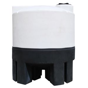 2500 gallons conical plastic tank