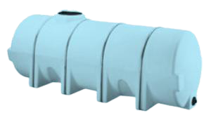 1625 US Gallons Horizontal Tank- Steel Band Kit Required