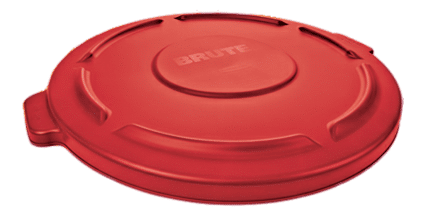 Couvercle rouge Brute Rubbermaid