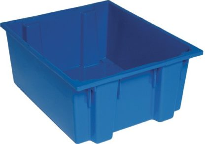 Blue FDA plastic container 24x20x10