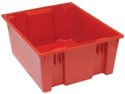 Red FDA plastic container 24x20x10